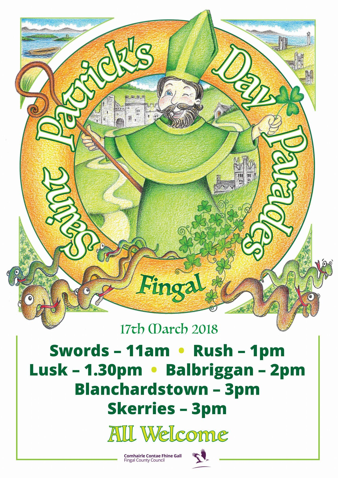 Paddys day paraades fingal